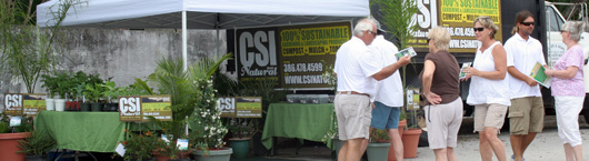 A Crowd gathers for CSI Natural at the 3rd Annual Edgewater Business Expo.