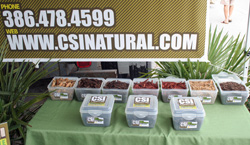 A photo of CSI Natural's Product Line Samples; Compost, Mulch & TopSoil.