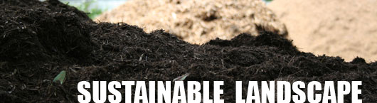 Photo of Sustainable Landscape Products like Natural TopSoil and Natural Mulch